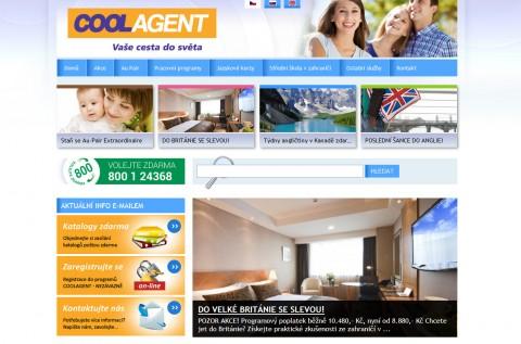 Screenshot webu www.coolagent.cz